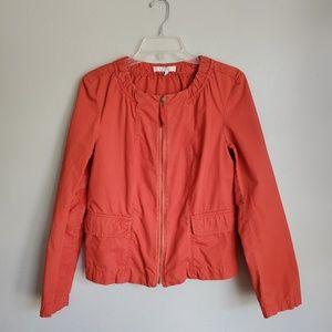 Ann Taylor Loft Orange Lightweight Zip Up Jacket
